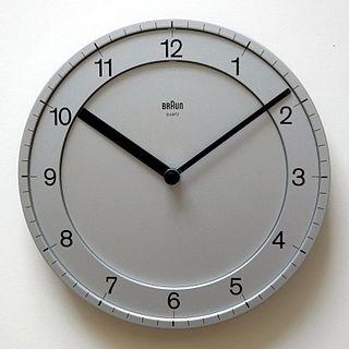 Clock face dial of an analogue clock or watch