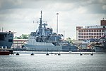 Brazilian frigate Independência (F44) at the Norfolk Naval Shipyard on 25 May 2012 (7315921586).jpg