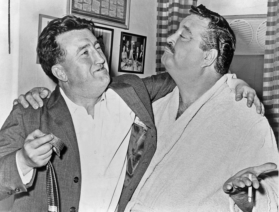 Brendan Behan and Jackie Gleason NYWTS