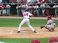 Brett Eibner batting UArk.jpg