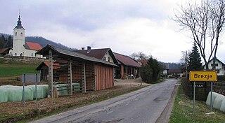 Brezje pri Dobrovi Place in Upper Carniola, Slovenia