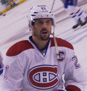 Brian Gionta - Gionta in 2014 as captain of the Montreal Canadiens