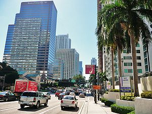 Brickell Avenue - Brickell Avenue toward the Miami River