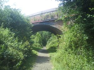 Cranleigh line - The B2130 bridge over the former railway just west of the site of Cranleigh railway station