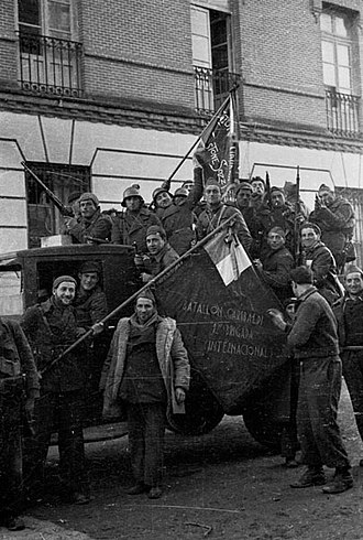 XII International Brigade - Troops of the Garibaldi Battalion, XII International Brigade. November 1936.