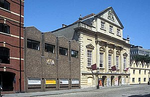 Bristol Old Vic - The Coopers' Hall (right), which became the theatre foyer in the 1970s