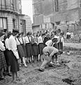 Britain's Youth Prepares- Girls Create Allotments on Bomb Site, London, England, 1942 D8921.jpg