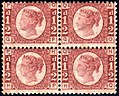 British 1870 half penny plate 13 stamps.jpg