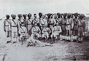 British and Indian Officers of the 15th Bengal Native Infantry 1885. (Loodhiana Sikhs).jpg