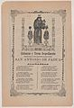 Broadsheet relating to Saint Anthony of Padua who is shown holding the Christ child flanked by a candelabra with flowers MET DP868417.jpg