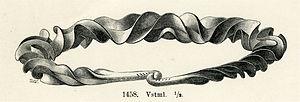 Torc - Unusually complex Swedish Bronze Age spiral ribbon torc in bronze