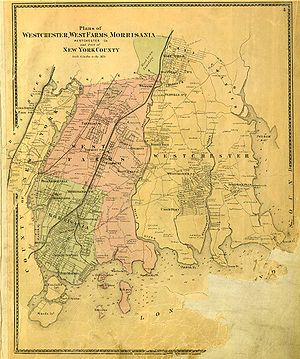 The Bronx - Map of the Bronx in 1867