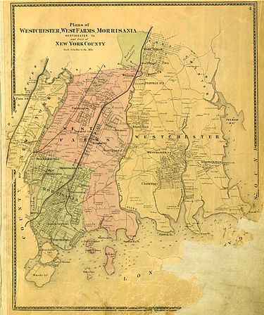 Map of the Bronx in 1867 Bronx1867.jpg