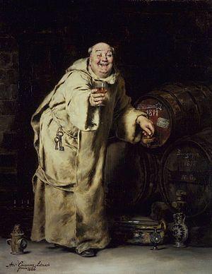 Wine tasting - Image: Brooklyn Museum Monk Testing Wine Antonio Casanova y Estorach