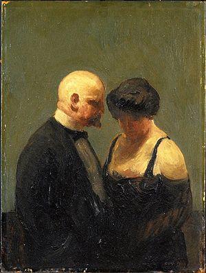 Guy Pène du Bois - The Confidence Man, c. 1919, Brooklyn Museum