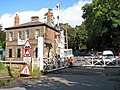 Brundall railway station - level crossing on Station Road - geograph.org.uk - 1531781.jpg