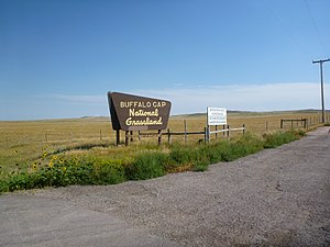 United States National Grassland - Entrance sign of a United States National Grassland area in South Dakota