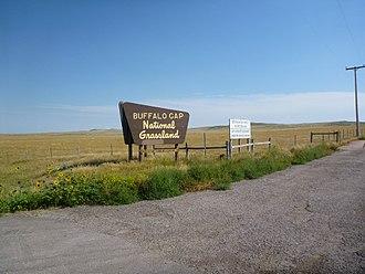 United States National Grassland - Entrance sign of a United States National Grassland area in South Dakota