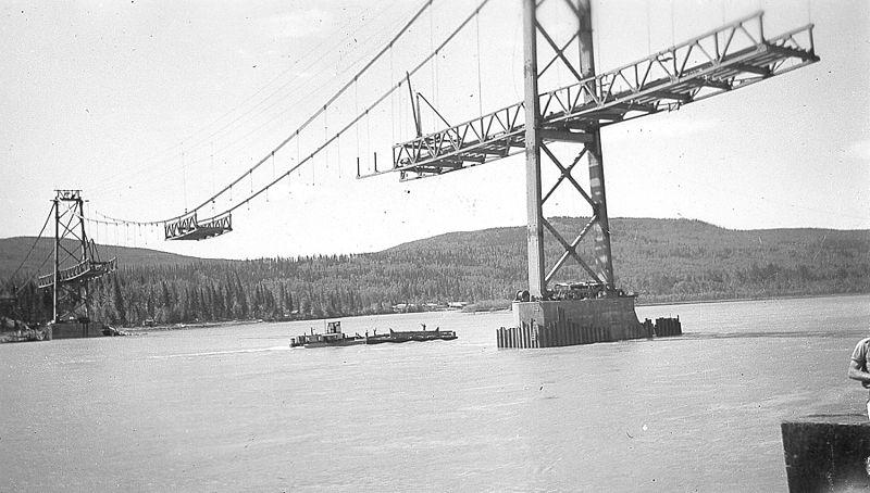 File:Building a bridge on the Alaska Highway (15115255813).jpg