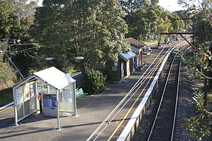 Bullaburra railway station - Westbound view in September 2007