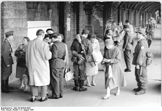 Oberbaum Bridge - East German checkpoint at the Oberbaum Bridge.