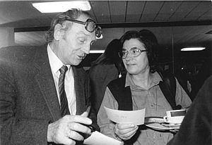 Jurij Brězan - Jurij Brězan with Christa Wolf in 1981