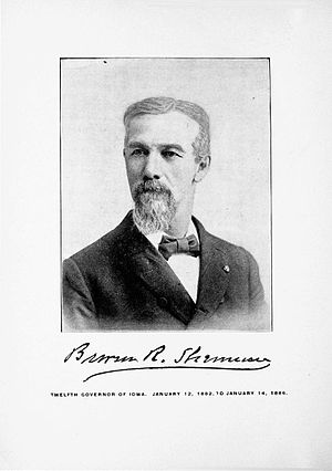 Buren R. Sherman - Sherman in the 1900 Iowa Official Register