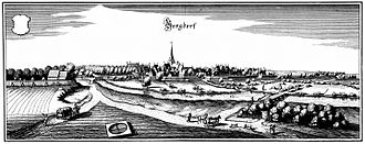 Burgdorf, Hanover - Burgdorf in the year 1654 on a Merian engraving