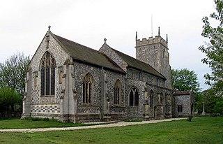 Burnham Thorpe village in Norfolk, UK