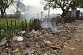 Burning Garbage - Nizamat Fort Campus - Lalbagh - Murshidabad 2017-03-28 6537.JPG