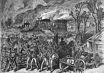 After their victory at Bladensburg on August 19, 1814, the British burned down Washington's public buildings