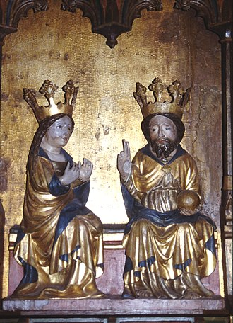 Burs Church - Detail of the altarpiece (15th century)