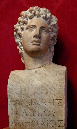 The Frogs - Marble bust from the fourth century BC depicting Alcibiades, who is referenced throughout the play