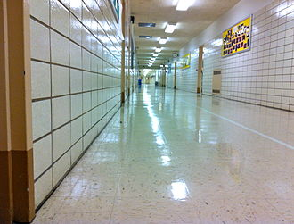 Bronx High School of Science - A hallway on the first floor of Bronx Science