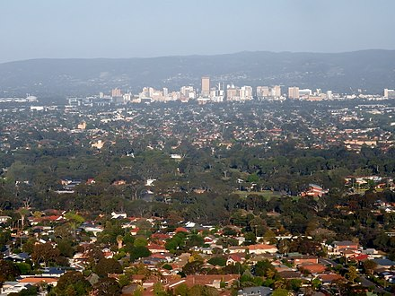 View of Adelaide city centre and surrounding northern suburbs. Adelaide's metropolitan area is home to the largest concentration of the state's population CBD in the Distance (22809720932).jpg