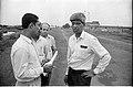 CMC Officers Discussing With G Nagarajan - Science City Site - JBS Haldane Avenue - Calcutta 1993-Monsoon 737.JPG