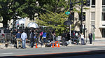 CNN sets up at 3rd and M Streets SE - Washington Navy Yard shooting - 2013-09-17.jpg