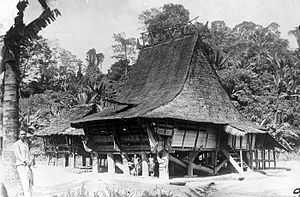 Nias people - Omo sebua, a traditional Nias house.