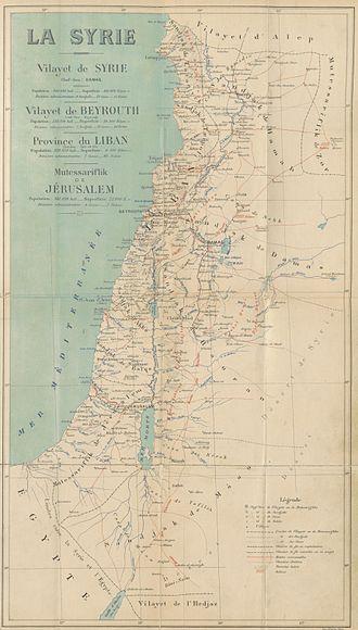 Mutasarrifate of Jerusalem - Image: CUINET(1896) LA SYRIE
