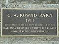 C A Rownd Round Barn Cedar Falls IA Plaque pic1.JPG
