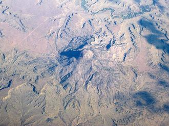 Cabezon Peak - Oblique air photo of Cabezon Peak, facing north