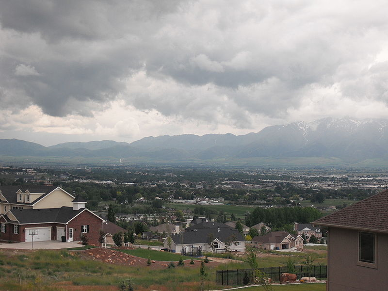 Cache Valley, Utah, today, after an infusion of cash. Jim Bridger wouldn't recognize the place.  Wikipedia image