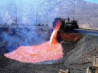 Slag Glass-like by-product left over after a desired metal has been separated from its raw ore
