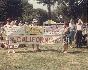 The Ribbon International - Californians contributed over 3,000 panels.