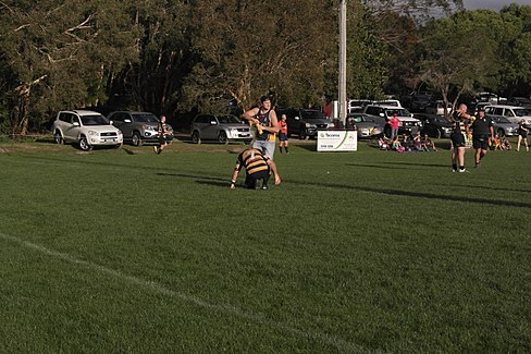 Caloundra player injured.JPG