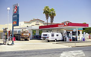Caltex - Caltex petrol station in Wagga Wagga, New South Wales.