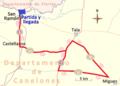 Campeonato nacional de ruta y contrarreloj 2015 de Uruguay. Circuito de la prueba en ruta.png