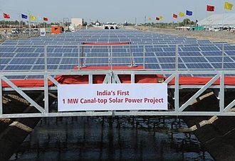 Kadi, India - Image: Canal Top Solar Power Plant