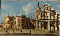 Canaletto (Giovanni Antonio Canal) - Campo Santa Maria Zobenigo, Venice - 2019.141.3 - Metropolitan Museum of Art.jpg
