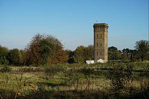Cane Hill Hospital - Cane Hill water tower in 2014, after the hospital was demolished